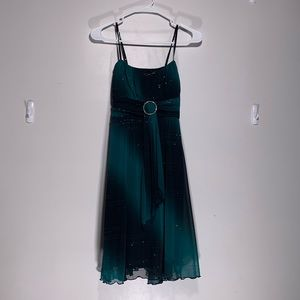 Ruby Rox Green and black prom or cocktail dress